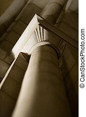Architectural stone pillar details