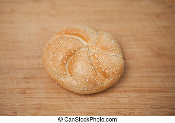 Kaiser roll with sesame seeds