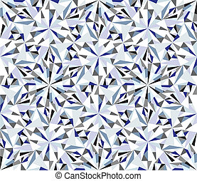 Diamond background. Seamless brilliant pattern