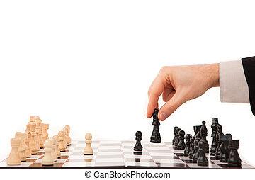 mano, Mudanza, pieza de ajedrez