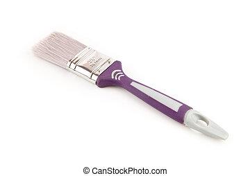 Purple paintbrush - Unused purple paintbrush
