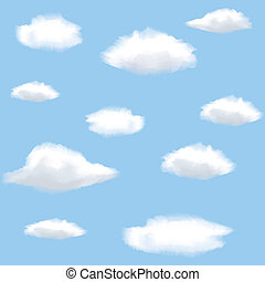 Seamless background with clouds on sky