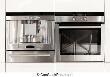 Kitchen appliances - Silver kitchen appliances coffee...