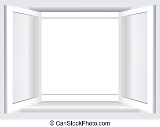 opened window - Room, opened window with empty space in the...