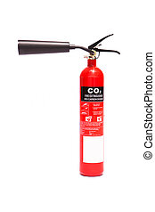 Carbon dioxide fire extinguisher - Red carbon dioxide fire...