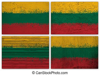 Lithuania flag collage