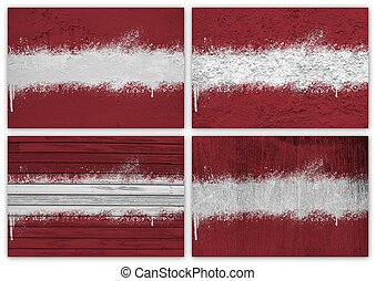Latvia flag collage