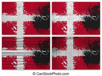 Denmark flag collage