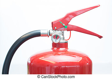 Top of fire extinguisher