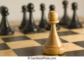 Chess exception to the rules - The white pawn resists to...