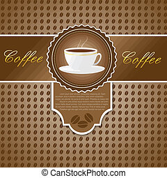 Menu with a cup of coffee
