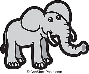 Elephant - Isolated elephant cartoon character standing