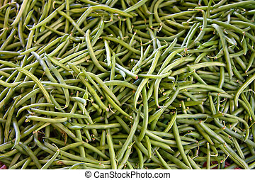 String beans - Many green organic string beans