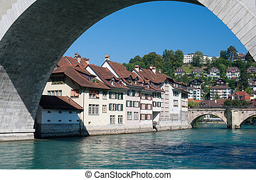 Old town of Bern and the Aare river