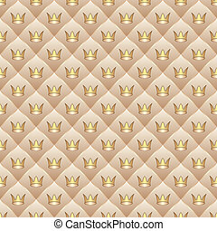 background with crowns - seamless
