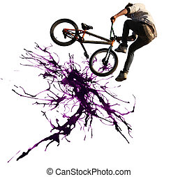 BMX cycling illustration
