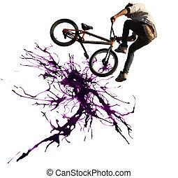 BMX, Ciclismo, Ilustração