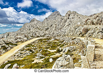 Velebit mountain road serpentine near Tulove grede - Velebit...