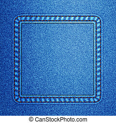 Jeans background Vector - Jeans texture with elements of the...