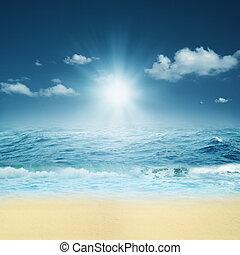 en, Océano, Extracto, natural, fondos, su,...