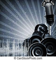 DJ, Estratto, Sfondi, disegno,  copy-space, tuo