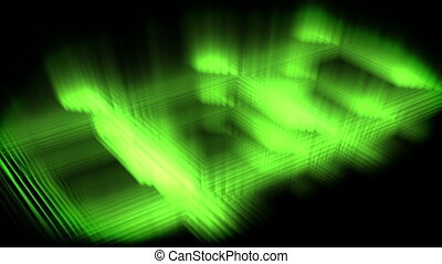 Green glow forming a square