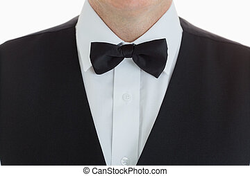 close-up of a Well-dressed waiter