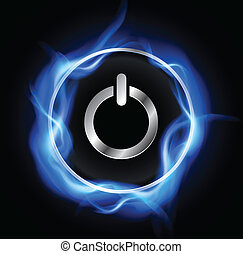 Power button, vector design