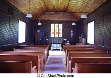 Haunted church in Parksville - An old vacant church