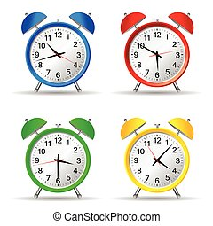 beauty clock vector illustration
