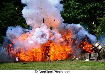 Civil War Re-enactment - explosion