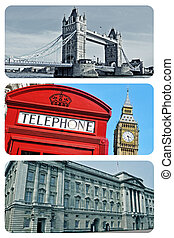 london collage - a collage of some pictures of different...