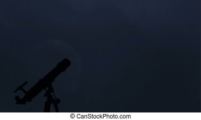 Telescope and Moon Time Lapse - Time lapse of the Moon...