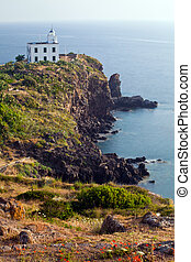 Lighthouse at Capraia island, Elba, Tuscany, Italy