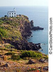 Lighthouse at Capraia island, Elba, Tuscany, Italy