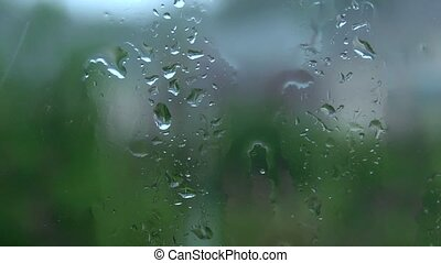 rain on my pane - Looking through a rain soaked window pane....