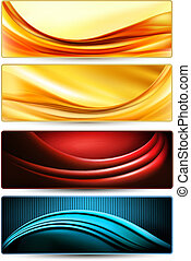 Set of colorful abstract business banners. Vector...