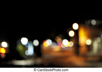 Blurred lights of city, suitable for background