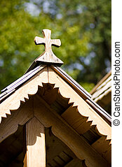 Beautiful wooden church