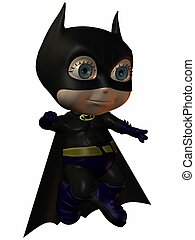 The Super Hero - 3D Render of an Toonimal Figure