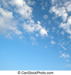 luz, Nuvens, azul, céu