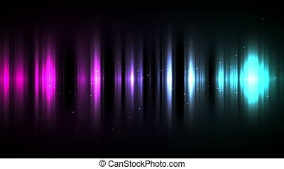 Gradation of purple to blue lines against a black background