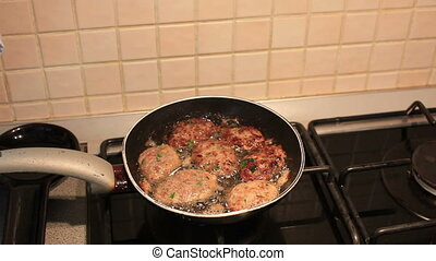 meatball frying