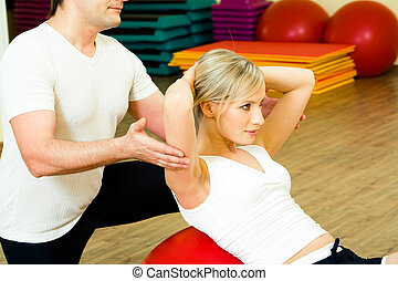 Physical exercise - Photo of woman doing physical exercise...