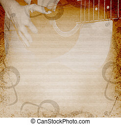 musical background with guitar - musical background with...