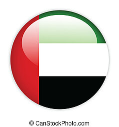 United Arab Emirates flag on button
