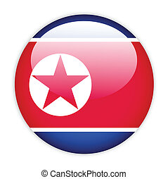 North Korea flag button