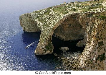 Błękitny, Grota, Gozo, malta