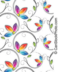 Seamless wallpaper of artstic flowe - Seamless wallpaper of...
