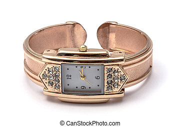 fashion wrist watch - Woman fashion wrist watch isolated on...